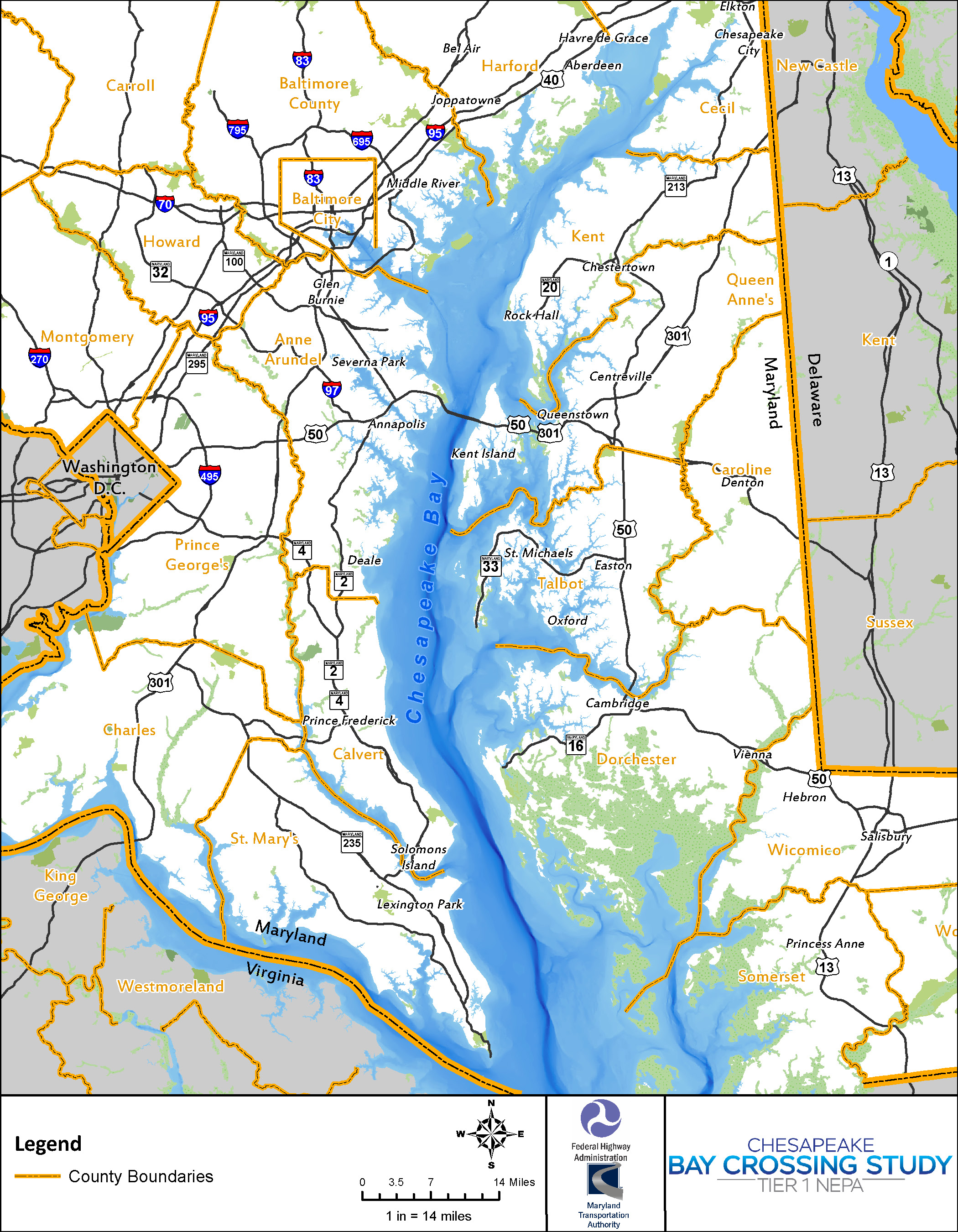 Study Area Map - MDOT MDTA Chesapeake Bay Crossing Study on mobile bay map, james river, chesapeake bay bridge, maryland map, delaware map, ohio river, usa map, baltimore map, hudson bay, columbia river, delaware bay, delaware river, virginia map, chesapeake bay bridge-tunnel, intracoastal waterway map, great lakes, sierra nevada, appalachian mountains, hudson river, bering sea map, gulf of mexico map, united states map, susquehanna river, france map, arkansas map, potomac river, san francisco bay, alaska map, gulf of mexico, great lakes map, mississippi map, great basin map, atlantic map, river map, bristol bay map, missouri river, puget sound map, virginia beach,
